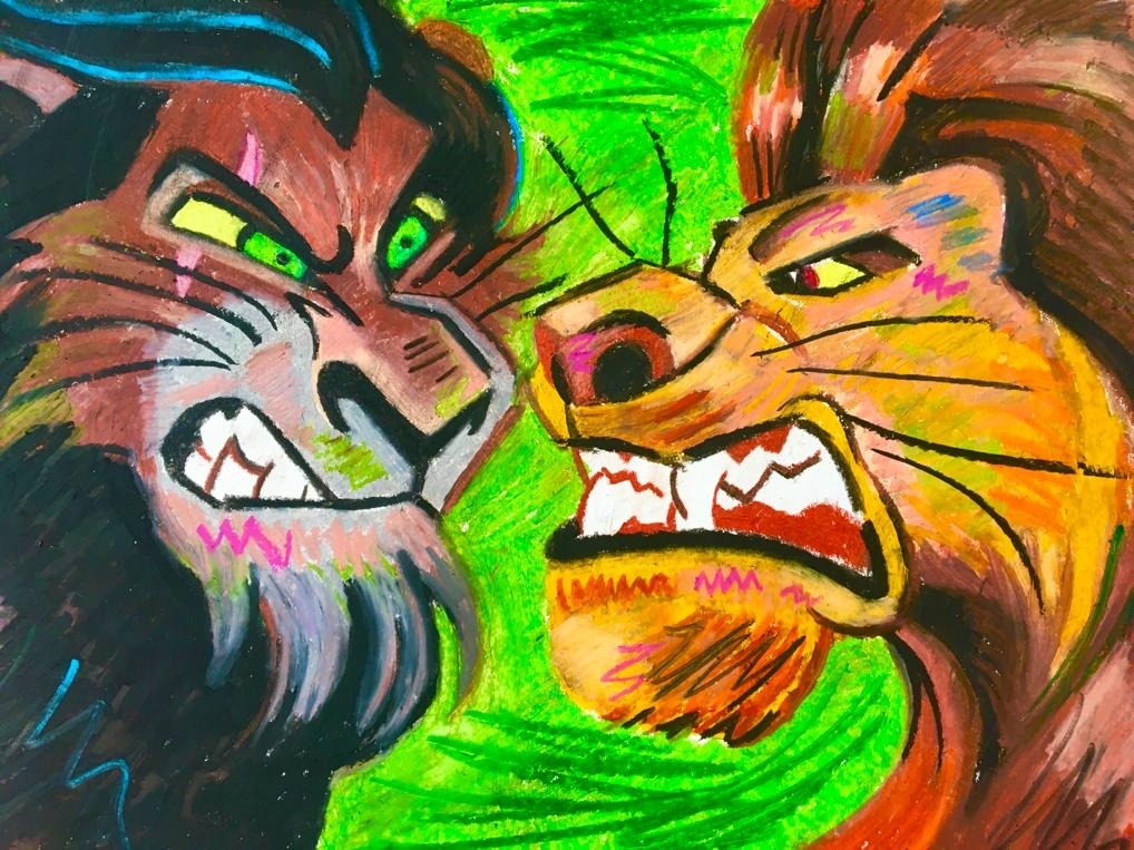 Scar And Mufasa Gilmerton Primary School The new lion king movie makes a tiny, but important change to the fight scene between simba and scar so it makes more logical sense. scar and mufasa gilmerton primary school